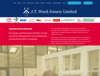 jtwardjoinery.co.uk screenshot