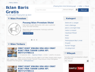 juaraiklanbaris.com screenshot