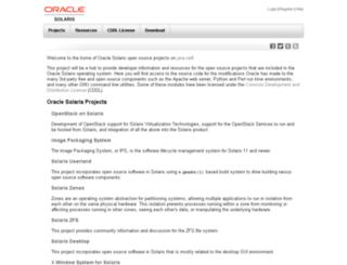 jucr.opensolaris.org screenshot