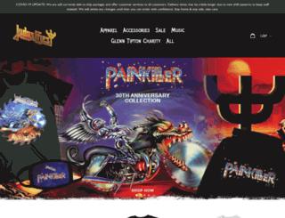 judaspriest.backstreetmerch.com screenshot