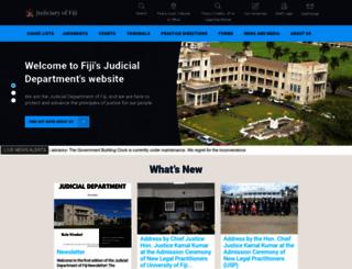 judiciary.gov.fj screenshot