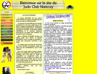 judoclubnancray.fr screenshot