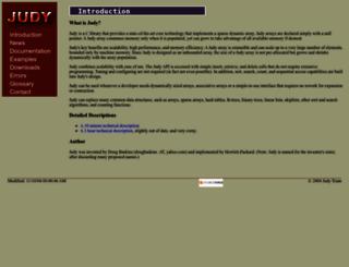 judy.sourceforge.net screenshot