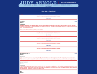 judyarnold.signourguestbook.com screenshot
