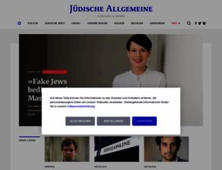 juedische-allgemeine.de screenshot