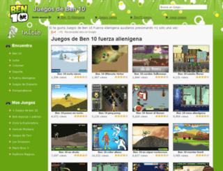 juegosdeben10fuerzaalienigena.com screenshot