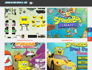 juegosdebobesponja.mx screenshot