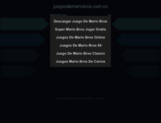 juegosdemariobros.com.co screenshot