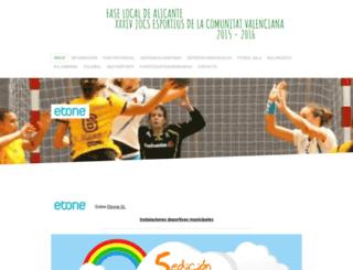 juegosdeportivosalicante.jimdo.com screenshot