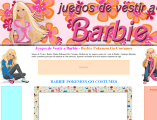 juegosdevestirabarbie.com screenshot