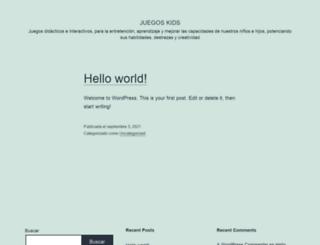 juegoskids.cl screenshot