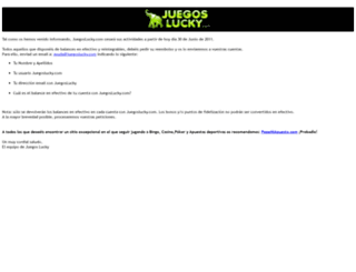 juegoslucky.com screenshot