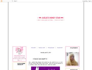 juelieshoneystar.blogspot.com screenshot