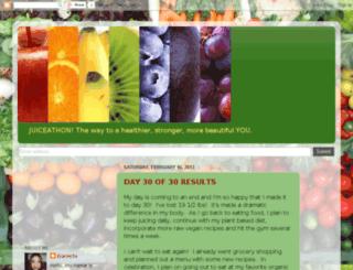 juiceathon.blogspot.com screenshot