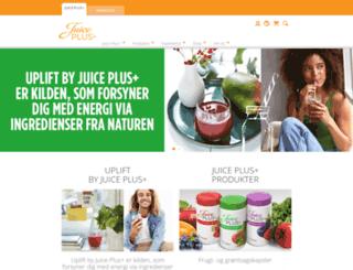 juiceplus.dk screenshot