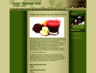 juicerrecipesnow.com screenshot