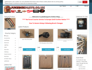 jukeboxparts.co.uk screenshot