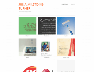 julia-milstoneturner.squarespace.com screenshot