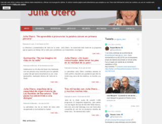 juliaotero.net screenshot