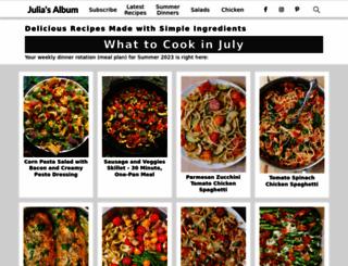 juliasalbum.com screenshot