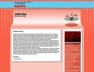 juliasblog.angelfire.com screenshot