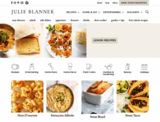 julieblanner.com screenshot