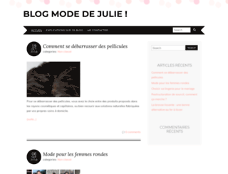juliemode.fr screenshot
