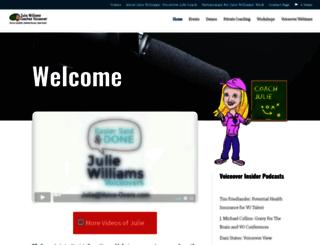 juliewilliamscoaches.com screenshot