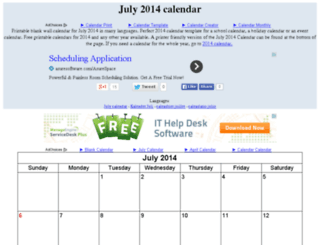 julycalendar.org screenshot