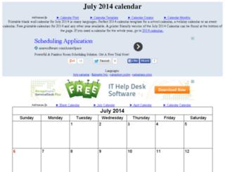 julycalendar.org screenshot