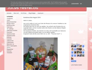 julystestblog.blogspot.com screenshot