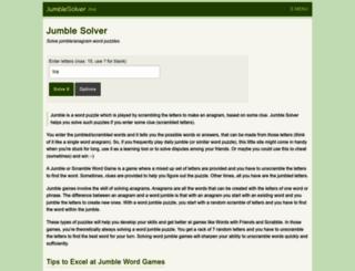 jumblesolver.me screenshot