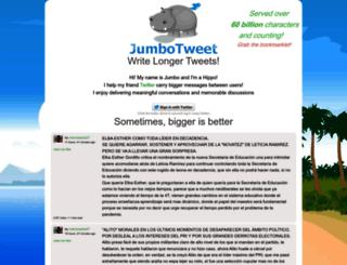 jumbotweet.com screenshot