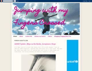jumpingwithmyfingerscrossed.com screenshot