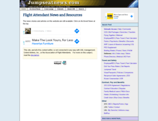 jumpseatnews.com screenshot