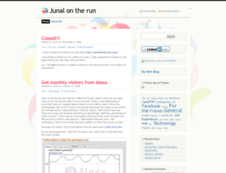 junal.wordpress.com screenshot