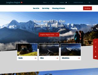 jungfrauregion.ch screenshot
