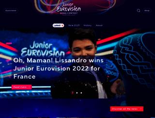 junioreurovision.tv screenshot