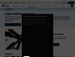 juniorlawyers.lawsociety.org.uk screenshot