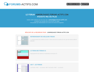 juniorleague.forums-actifs.com screenshot