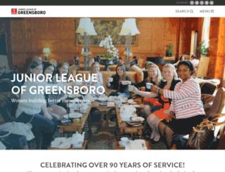 juniorleagueofgreensboro.org screenshot