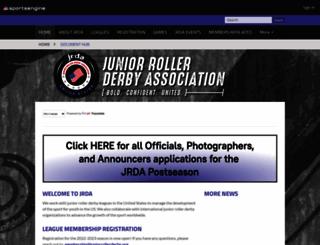juniorrollerderby.org screenshot