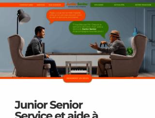 juniorsenior.fr screenshot