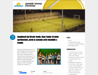 juniortennisstintino.com screenshot