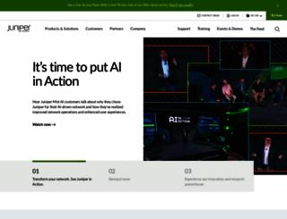 juniper.net screenshot