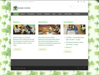 junipercreche.org screenshot