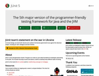 junit.org screenshot