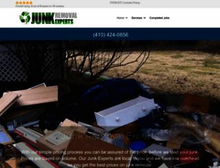 junkremovalexperts.com screenshot