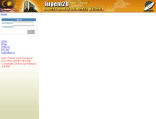 jupem2u.jusl.gov.my screenshot