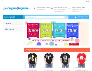 juraganbusana.com screenshot